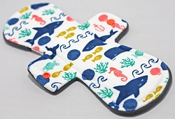 10 Inch Under the Sea Minky Heavy Cloth Pad