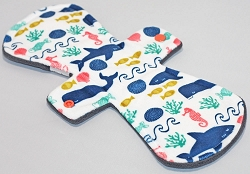 12 Inch Under the Sea Minky Ultimate Overnight Cloth Pad