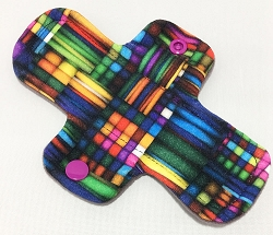 6 Inch Stained Glass Cotton Jersey Mini Cloth Pantyliner - Wide Width