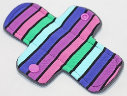 6 Inch Planetary Stripes Cotton Jersey Mini Cloth Pantyliner - Origianl Width
