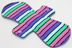 11 Inch Planetary Stripes Cotton Jersey Overnight Cloth Pad