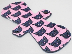 13 Inch Pretty Kitty Minky Post Partum Pad with Fleece back