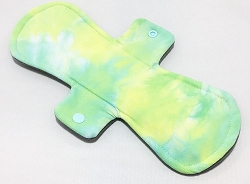 11 Inch Hand Dyed Lime Fizz Bamboo Jersey Overnight Pad with Fleece back