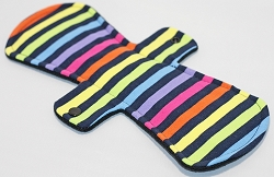 12 Inch Neon Stripes Cotton Jersey Ultimate Overnight Cloth Pad