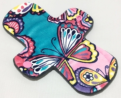 8 Inch Butterfly Paisley Minky Light Cloth Pad