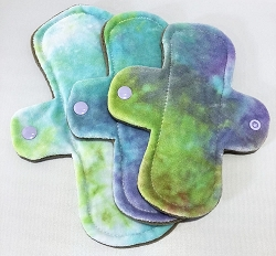 Just Beachy Hand Dyed Bamboo Velour Pads with Fleece backs - Pick Your Size!