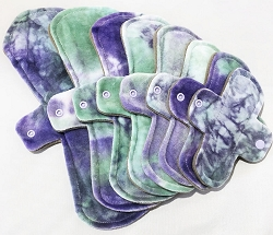 Lilacs Hand Dyed Bamboo Velour Pads with Fleece backs - Pick Your Size!