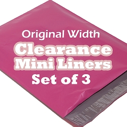 Set of 3 6 Inch Surprise Fabric Mini Liners - Original Width