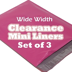 Set of 3 6 Inch Surprise Fabric Mini Liners - Wide Width