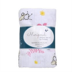 Mariposah Bamboo Muslin Swaddle - Beau the Sheep