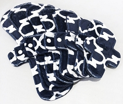 Navy Blue Lattice Minky Pads with Fleece backs - Pick Your Size!