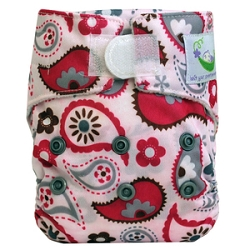 Sweet Pea Newborn All In One Cloth Diaper - Paisley