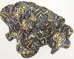 Summer Paisley Minky Pads with Fleece backs - Pick Your Size!