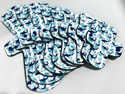 Shark Week v2.0 Organic Cotton Jersey Pads with Fleece backs - Pick Your Size!