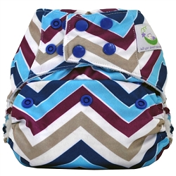 Sweet Pea Microfiber Pocket Cloth Diaper - Purple Chevron