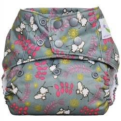 Sweet Pea Microfiber Pocket Cloth Diaper - Beau the Sheep