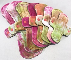 Strawberry Fields Hand Dyed Bamboo Velour Pads with Fleece backs - Pick Your Size!