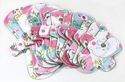 Summer Bouquet Minky Pads with Fleece backs - Pick Your Size!