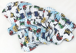 Super Kitty Cotton Jersey Pads with Fleece backs - Pick Your Size!
