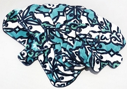 Teal Capri Minky Pads with Fleece backs - Pick Your Size!
