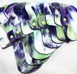 The Joker Hand Dyed Bamboo Velour Pads with Fleece backs - Pick Your Size!