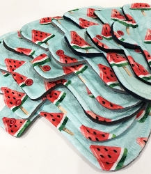 Watercolor Watermelons Minky Pads with Fleece backs - Pick Your Size!