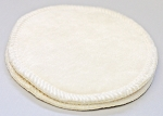 Undyed Bamboo Velour Cloth Nursing Pads with PUL backs