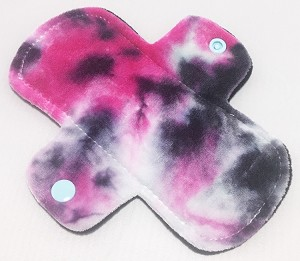 6 Inch Hand Dyed Rock Star Bamboo Velour Mini Cloth Pantyliner - Wide Width