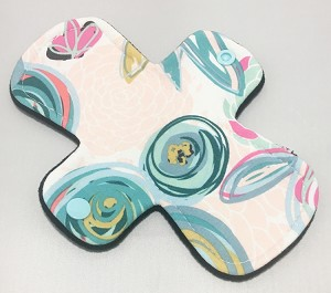 7.5 Inch Pop Art Blooms Cotton Jersey Regular Cloth Pantyliner