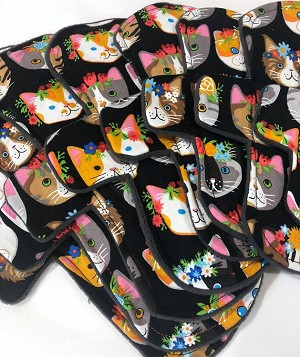 Flower Child Cotton Woven Pads with Fleece backs - Pick Your Size!