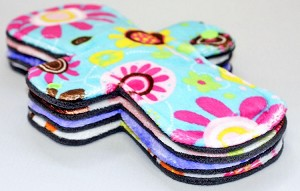 Set of Four 9 Inch Surprise Print Minky Day Pads with Fleece backs