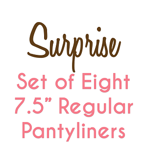 Set of 8 7.5 Inch Surprise fabric Pantyliners
