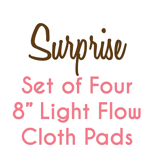 Set of Four 8 Inch Surprise Fabric Light Pads with Fleece backs