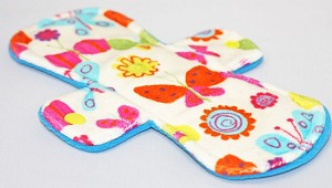 9 Inch Butterflies Minky Day Pad with Fleece back