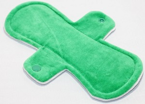 9 Inch Green Cotton Velour Day Pad with Fleece back