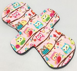 9 Inch Owls Cotton Jersey Day Cloth Pad
