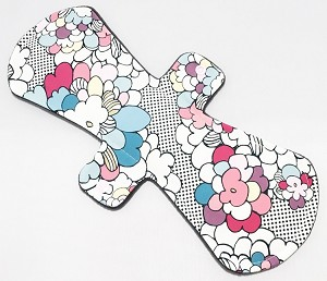 13 Inch Pop Art Floral Cotton Jersey Postpartum Cloth Pad