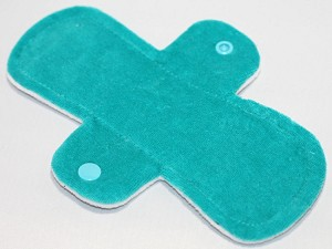 8 Inch Teal Cotton Velour Light Pad with Fleece back