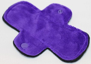 6 Inch Purple Minky Mini Cloth Pantyliner - Original Width