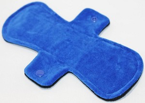 9 Inch Royal Blue Cotton Velour Day Pad with Fleece back