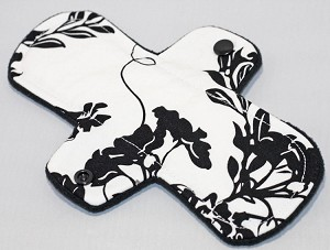 8 Inch Black and White Cotton Woven Light Cloth Pad