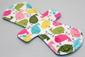 12 Inch Hippy Chick Minky Ultimate Overnight Cloth Pad