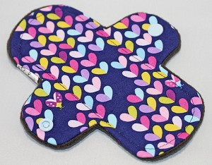 6 Inch Lovebug Cotton Print Mini Cloth Pantyliner - Wide Width
