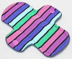 6 Inch Planetary Stripes Cotton Jersey Mini Cloth Pantyliner - Wide Width