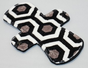 9 Inch Black Oyster Minky Day Pad with Fleece back