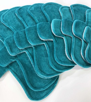 Teal Cotton Velour Pads with Fleece backs - Pick Your Size!