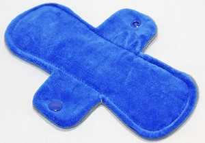 8 Inch Royal Blue Cotton Velour Light Pad with Fleece back