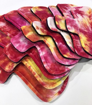 Hand Dyed Sunrise Bamboo Velour Pads with Fleece backs - Pick Your Size!