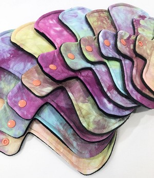 Hand Dyed Bamboo Jersey Pads with Fleece backs - Pick Your Size!