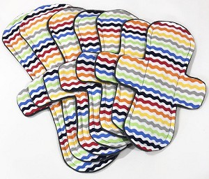 Rainbow Chevron Cotton Woven Pads with Fleece backs - Pick Your Size!